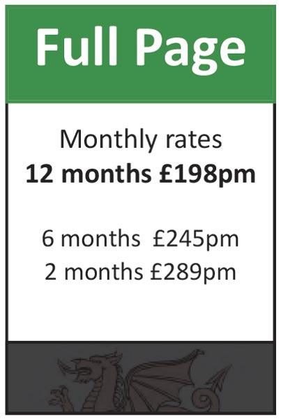 Full Page: 12 months at £198pm, 6 months at £245pm, 2 months at £289pm.